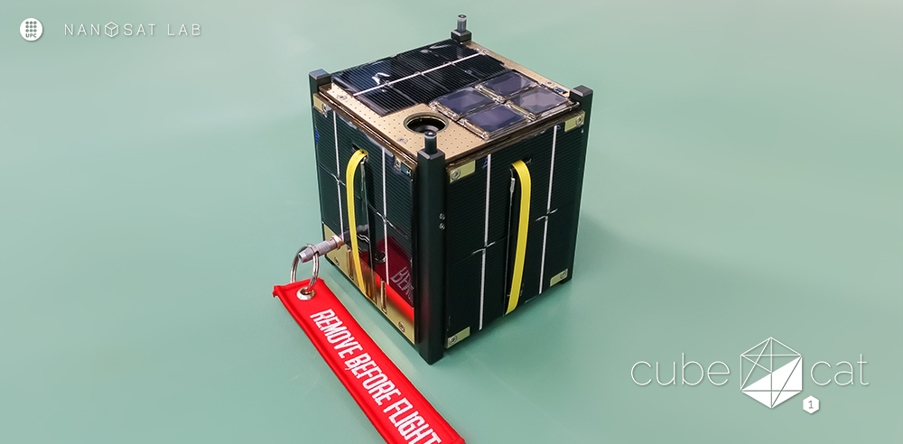 The CubeCat-1 nano-satellite in the cleanroom