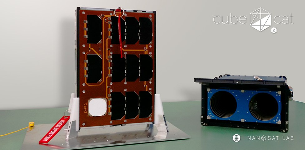 The CubeCat-2 nano-satellite in the cleanroom