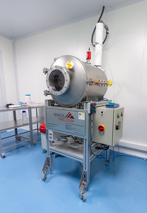 Thermal Vacuum Chamber at the NanoSat Lab's ISO 7 Cleanroom facilities