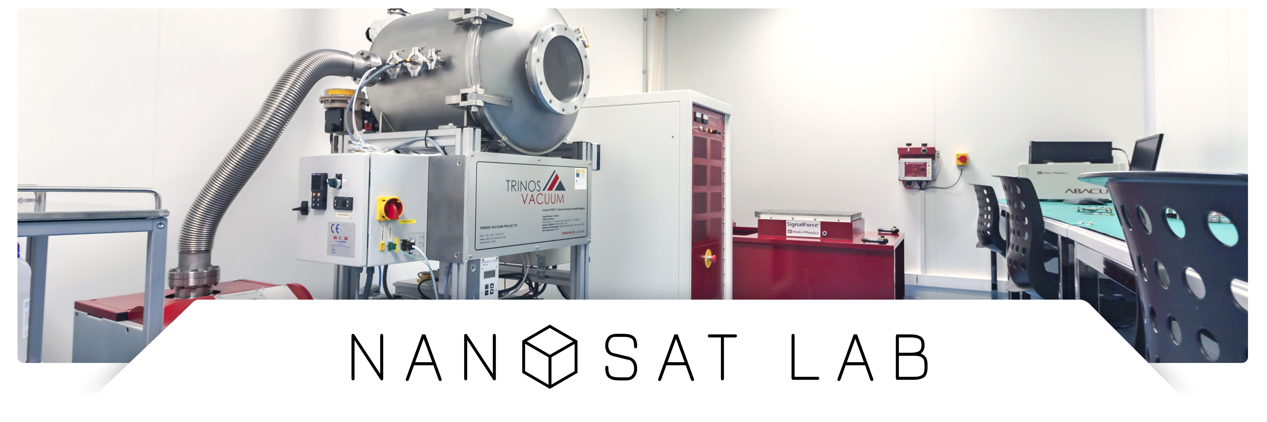 Panorama NanoSat Lab with logo and drop shadow
