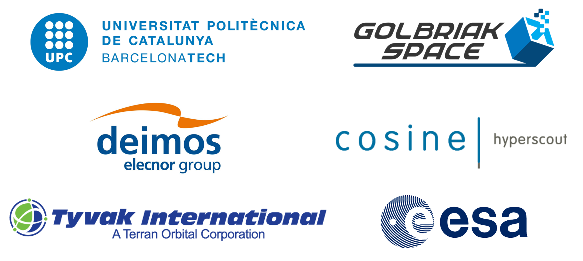 Sponsors and entities that have collaborated in the FSSCat mission
